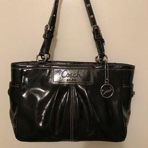 Coach Black Patent Leather Handbag